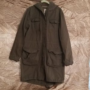 Army green Old Navy Trench Coat